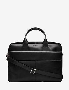 Basis Laptop Bag - Cognac - datavesker - black