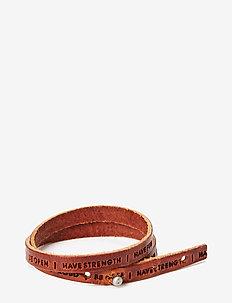 Philosophy Bracelet - bangles - cognac