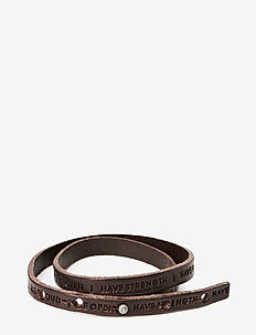 Philosophy Bracelet - bangles - dark brown