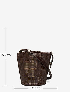 Aria Braided Bucket Bag - BROWN