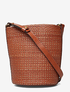 Aria Braided Bucket Bag - bucket bags - cognac