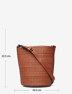 Aria Braided Bucket Bag - COGNAC