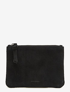 Town Pouch Suede - clutches - black