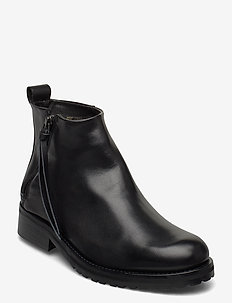 Ave Ankle Boot - Black - heeled ankle boots - black