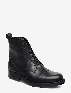 Ave Lace Up Boot - BLACK