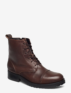 Ave Lace Up Boot - tasapohjaiset nilkkurit - brown