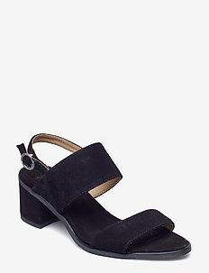 Town Strap Sandal Suede - BLACK