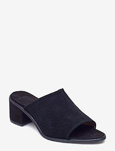 Town Mule Suede - sandały na obcasie - black