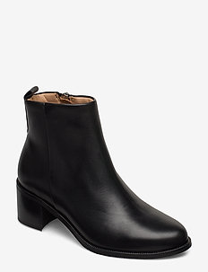 Town Ankle Boot - wysoki obcas - black