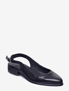 Prime Croco Slingback Sandal - BLACK