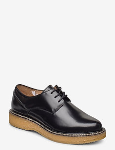 Border Crepe Derby Shoe - buty sznurowane - black