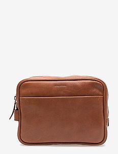 Explorer Toilet Bag Mini - toiletry bags - cognac