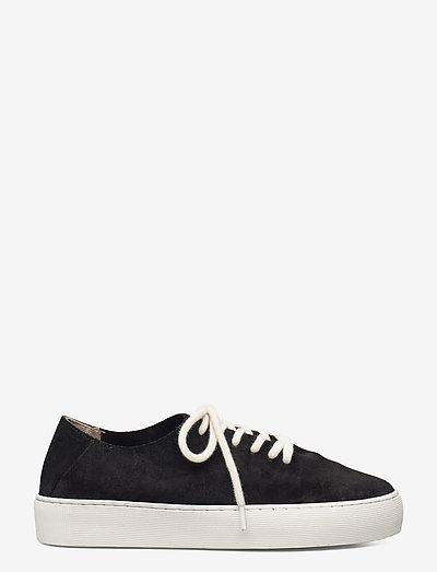 Doric Minimal Oxford Shoe Suede 191 - sneakersy niskie - black