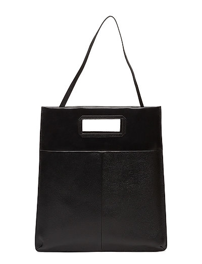 New Courier flat tote caviar - BLACK