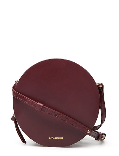 GALAX ROUND EVENING BAG - BORDEAUX
