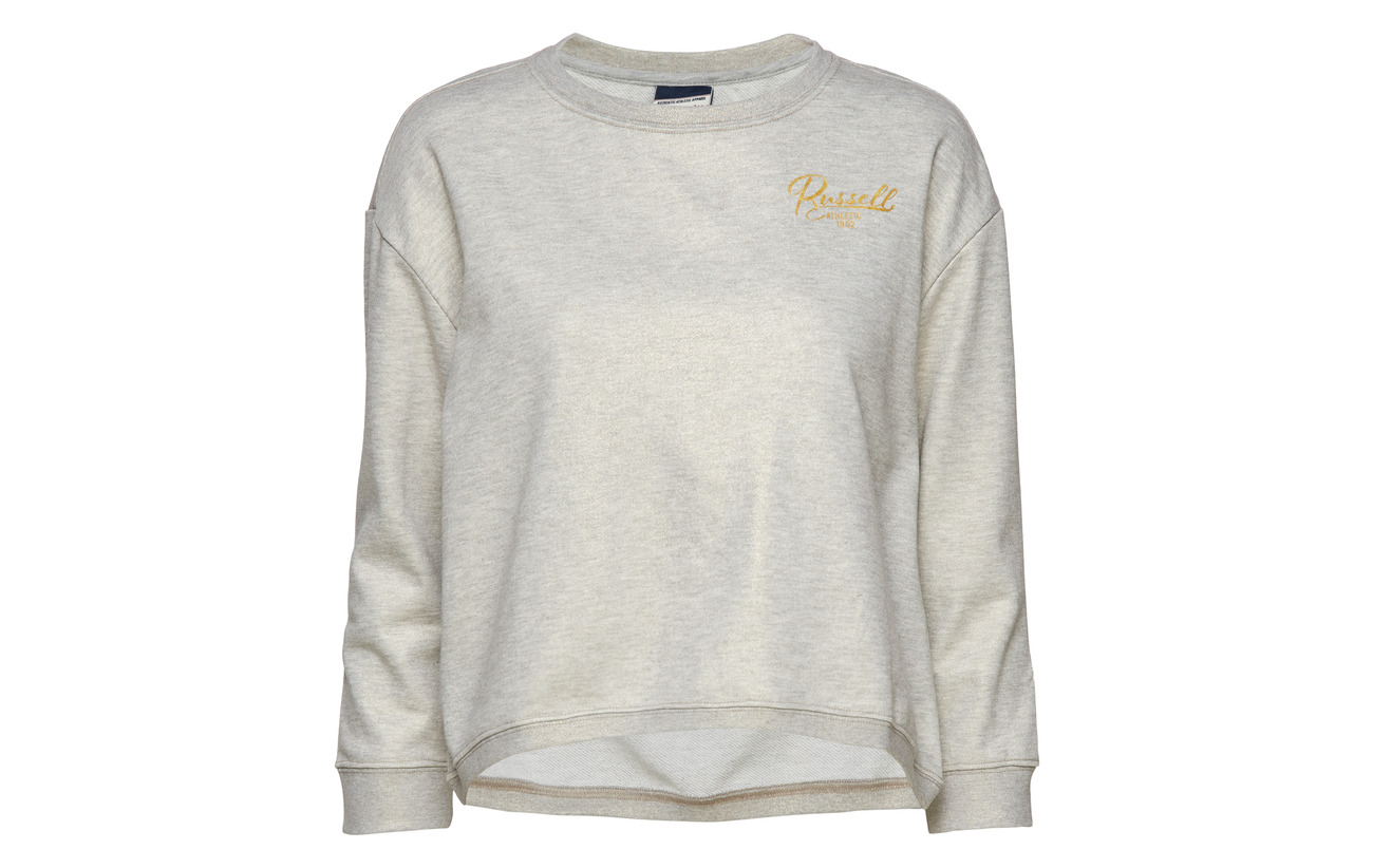Crew Sweatshirt Neck Grey Marl 35 Russell Bright Coton Polyester Équipement Fit 65 Ru Athletic Boxy xU4qIYT