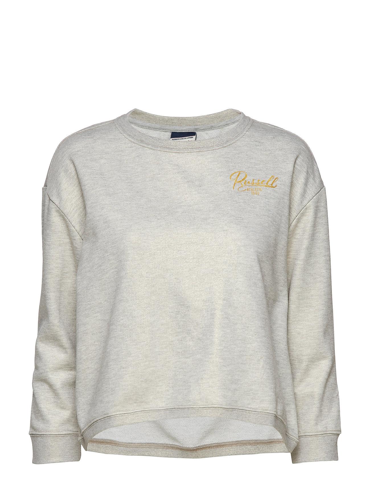 Ru Boxy Fit Crew Neck Sweatshirt (Bright Grey Marl) (£34.65 ... 04b1da93c5c