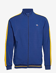 Russell Athletic - RU ANGELES-STRIPED TRCK JCKT - track jackets - mazarine blue - 0