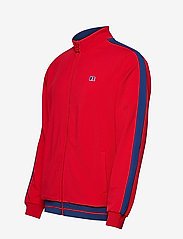 Russell Athletic - RU ANGELES-STRIPED TRCK JCKT - track jackets - true red - 2