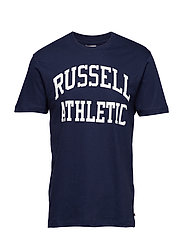 RU S/S CREW NECK  TEE WITH LOGO PRINT - NAVY