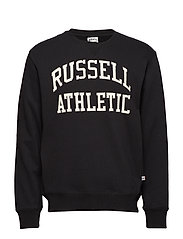 RU CREW NECK TACKLE TWILL SWEATSHIRT - BLACK