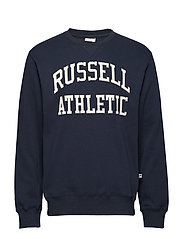 RU CREW NECK TACKLE TWILL SWEATSHIRT - NAVY