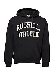 RU PULL OVER TACKLE TWILL HOODY - BLACK