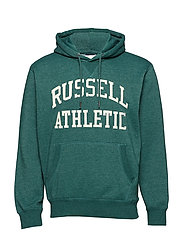 RU PULL OVER TACKLE TWILL HOODY - BOTANICAL GARDEN MARL