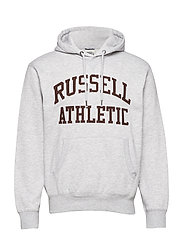 RU PULL OVER TACKLE TWILL HOODY - BRIGHT GREY MARL