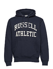 RU PULL OVER TACKLE TWILL HOODY - NAVY