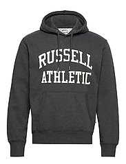 RU PULL OVER TACKLE TWILL HOODY - WINTER CHARCOAL MARL