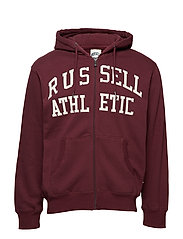 RU ZIP THROUGH TACKLE TWILL HOODY - FIG