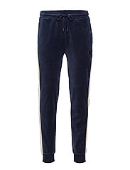 RU TRACK PANT WITH 'R' EMBROIDERY - NAVY