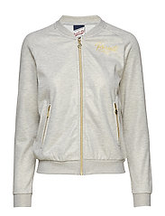 RU BOMBER JACKET - BRIGHT GREY MARL