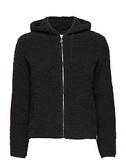 RU ZIP THROUGH HOODY - BLACK