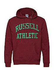 RU ICONIC TWILL HOODY SWTSH - MARROON WINE