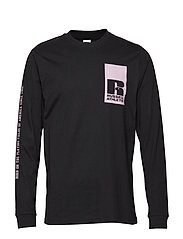 RU LEANDRO-GRAPHIC L/S CL BL T - BLACK