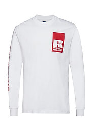 RU LEANDRO-GRAPHIC L/S CL BL T - WHITE