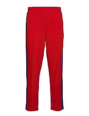 RU GLAMIS-STRIPED TRCK PANT - TRUE RED