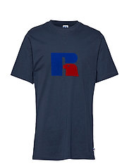 RU JERRY - FLOCK T SHIRT - NAVY