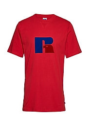 RU JERRY - FLOCK T SHIRT - TRUE RED