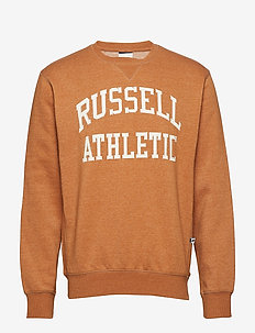 RU CREW NECK TACKLE TWILL SWEATSHIRT - BONE BROWN MARL