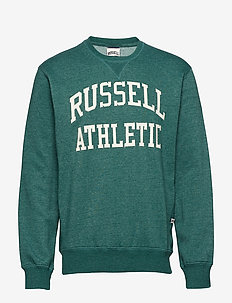 RU CREW NECK TACKLE TWILL SWEATSHIRT - BOTANICAL GARDEN MARL