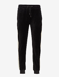 RU TRACK PANT WITH 'R' EMBROIDERY - BLACK