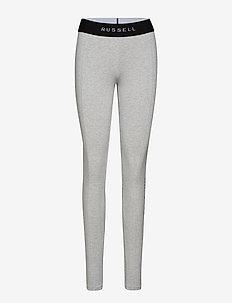 RU LEGGING - VERTICAL PRINT DETAIL - leggings - bright grey marl