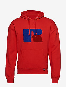 RU MIKE-LARGE CHENILLE HOODY - TRUE RED