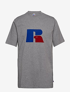 RU JERRY - FLOCK T SHIRT - GREY MARL