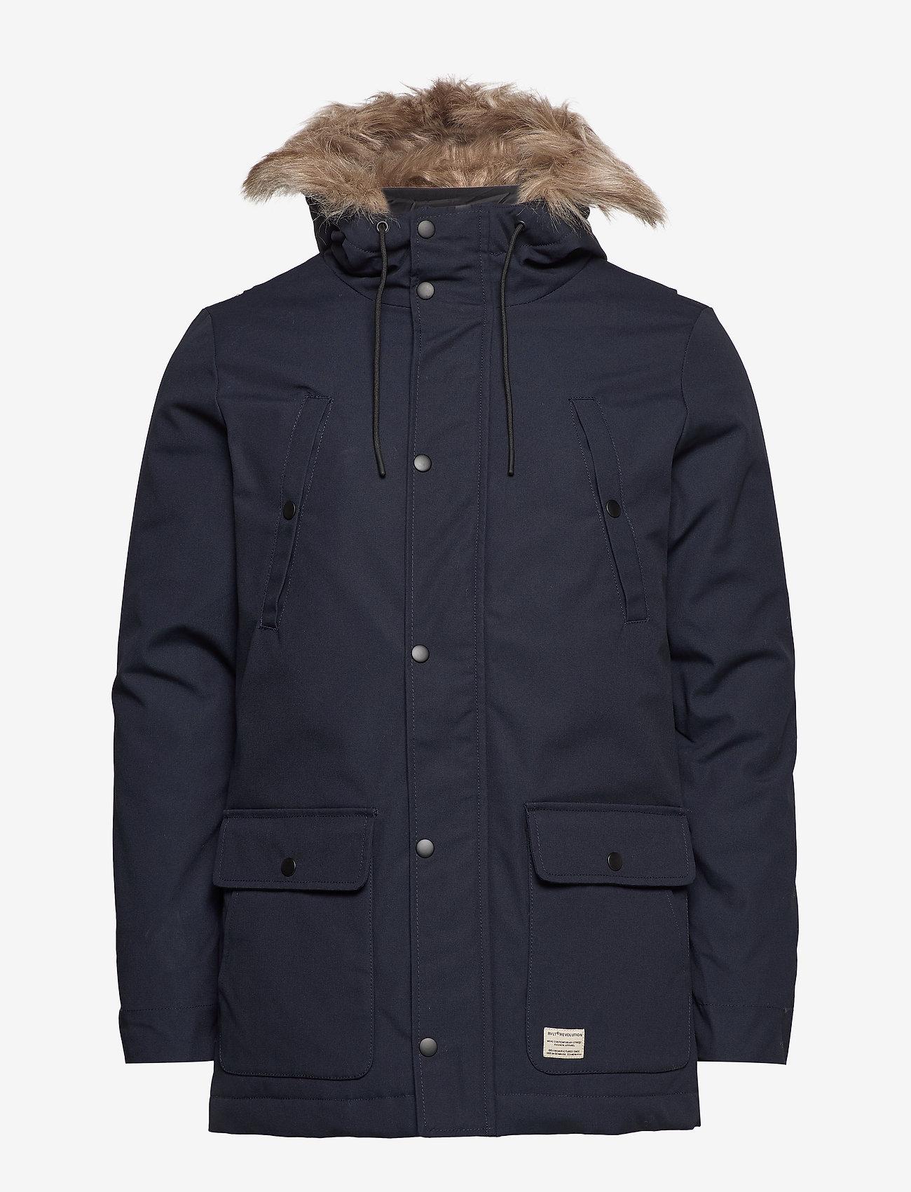 Parka Jacket (Navy) - RVLT r3A0iw