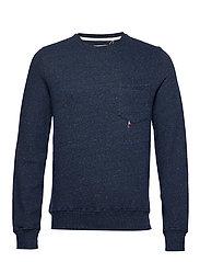 Printed sweatshirt - NAVY