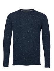 Knitted sweater - DARKBLUE